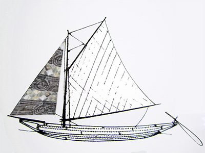 sail sketch photoshopped