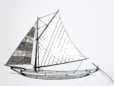 sail sketch photoshopped