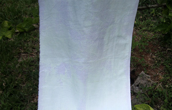 painted white fabric in daylight