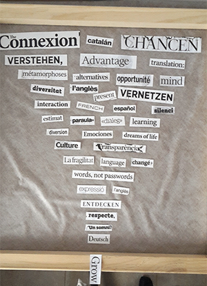 words, collage