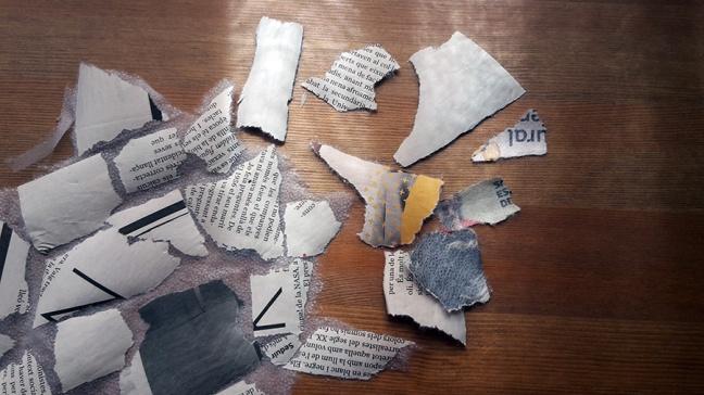 newspaper scraps