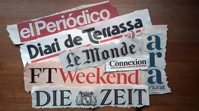various newspapers
