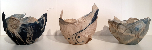 Andrea Eimke - three tapa vessels