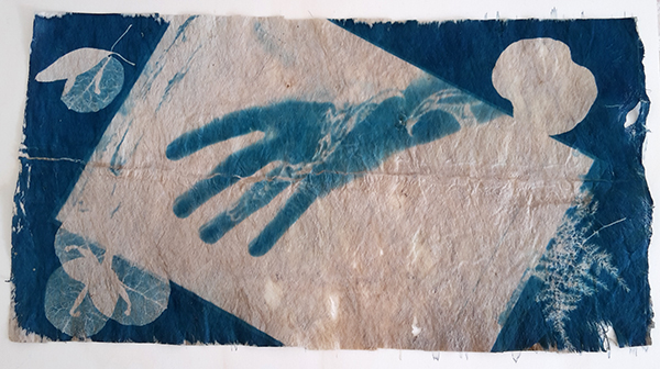 hand print - developed